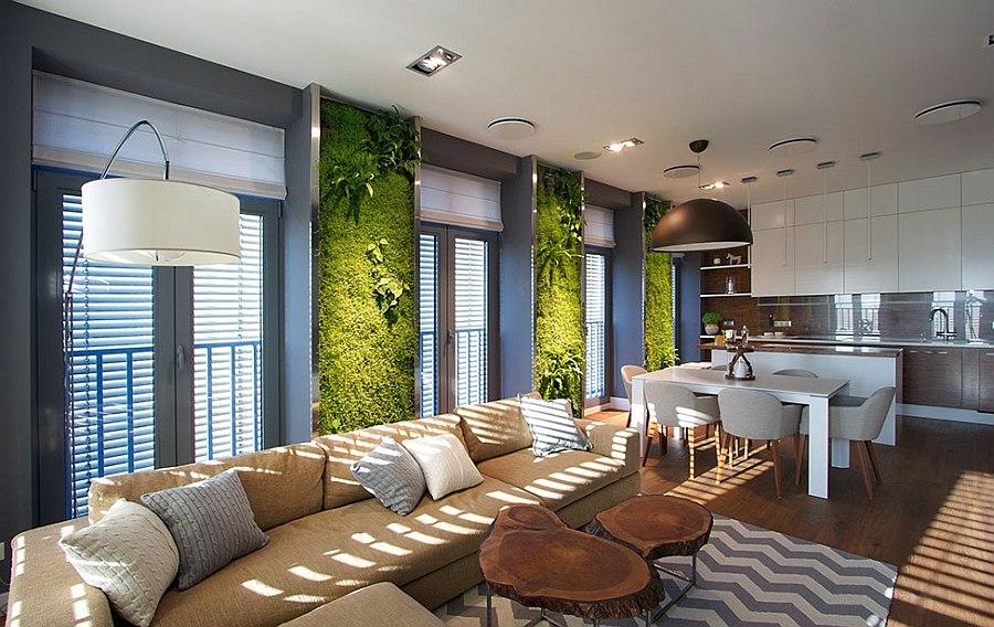 دیوار سبز آپارتمان
